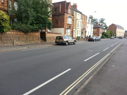 Bicycle lane on Iffley Road