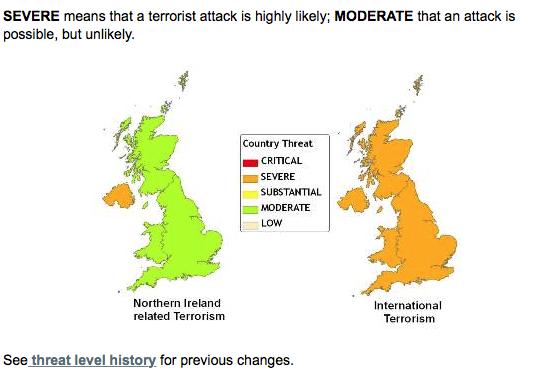 MI5 threat level graphic