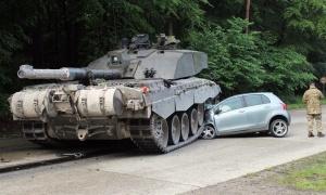 Tank vs car